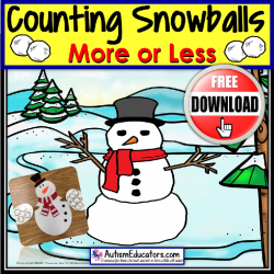 More or Less SNOWMAN Counting and Estimating FREE
