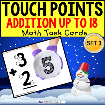 "TOUCH POINT Addition To 18 TASK CARDS WINTER Theme ""Task Box Filler"""