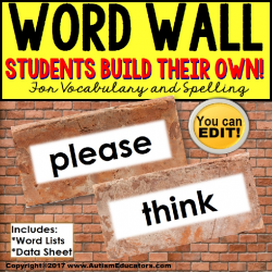 WORD WALL Interactive Vocabulary Books EDITABLE