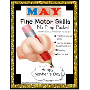 Fine Motor Skills NO PREP Packet for MAY (Special Education)