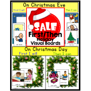 Autism First/Then Visual Board for CHRISTMAS