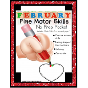Fine Motor NO PREP Packet for FEBRUARY (Special Education)