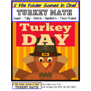 Turkey Day File Folder Games (5 Games in one!)