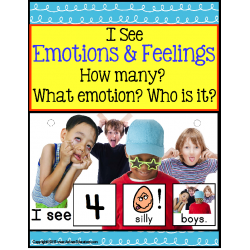 Emotions and Feelings Counting Interactive Book with Data Sheet and IEP Goals FOR AUTISM