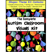 The Complete Autism Classroom Visuals Kit - SHAPES