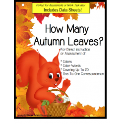 Autism: Autumn Colors and Counting with Number Recognition / How Many Autumn Leaves?