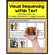 Sequencing Events with Text and Pictures Task Cards for Autism/Special Education