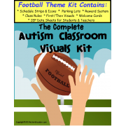 The Complete Autism Classroom Visuals Kit - FOOTBALL THEME