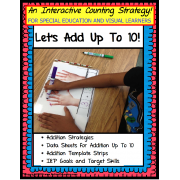 Addition Math Counting Strategies for Special Education/Autism/Visual Learners