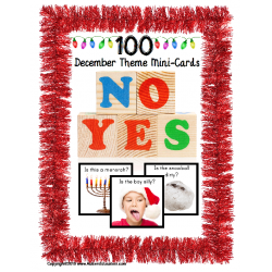 December YES/NO Mini Question Cards for Autism and Language Development