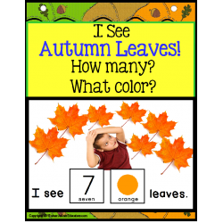 Autism AUTUMN LEAVES Interactive Counting Sentence Building Pre-K/Kindergarten