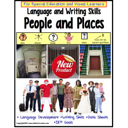 "Autism Language/Writing ""WH"" Questions PEOPLE and PLACES with IEP Goals/ Data"