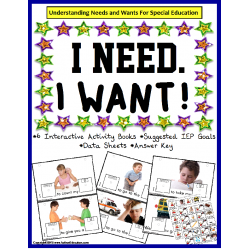 Autism Speech Language Writing BUNDLE - WANTS and NEEDS Interactive Books