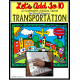 Autism Adapted Task Cards Books -Transportation COUNT/ ADD/ SUBTRACT To 10