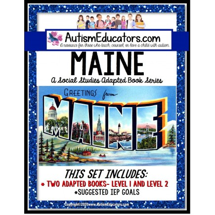 MAINE State Symbols ADAPTED BOOK for Special Education and Autism