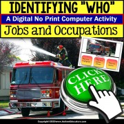 Special Education Distance Learning | IDENTIFYING WHO in a Picture | Occupation