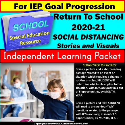 Independent Learning Packet for Special Education - Back To School Procedures