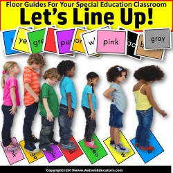 Beginning of School Year LINE UP FLOOR GUIDES Colors