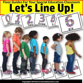 Beginning of School Year LINE UP FLOOR GUIDES - NUMBERS - Special Education