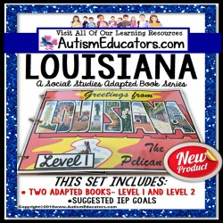 LOUISIANA State Symbols ADAPTED BOOK for Special Education and Autism