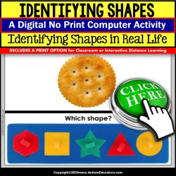 Special Education Distance Learning | IDENTIFYING SHAPES | Math Digital Resource