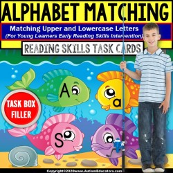 Upper and Lowercase Letter Match | TASK BOX FILLER | Special Education Resource