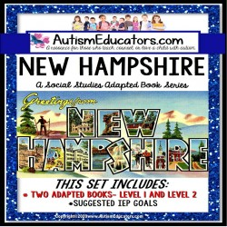 NEW HAMPSHIRE State Symbols ADAPTED BOOK for Special Education and Autism