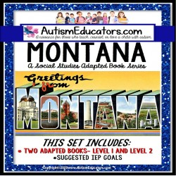 MONTANA State Symbols ADAPTED BOOK for Special Education and Autism