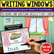CVC Words | READING and WRITING Intervention WORD WINDOWS Task Box Filler