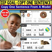 Copy Sentences | Trace-Copy-Write for Fine Motor Skills TASK BOX FILLER
