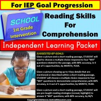 Independent Learning Packet for Special Education | Reading Comprehension SET 2