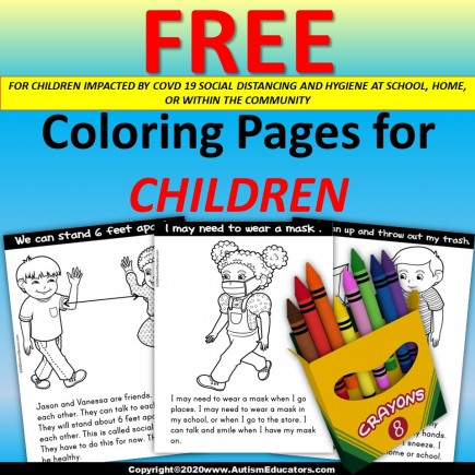 FREE Coloring Pages for Children SOCIAL DISTANCING AND HYGIENE