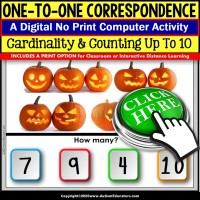 One To One Correspondence to 10 OCTOBER Digital Resource SPECIAL EDUCATION
