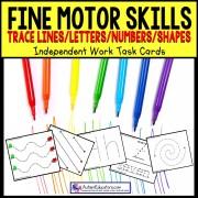 FINE MOTOR Skills Tracing Task Cards TASK BOX FILLER ACTIVITIES
