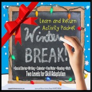Winter Break TAKE HOME Activity Packet for Autism and Special Education