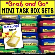 MATH SKILLS Mini Task Boxes for Assessment Instruction Independent Work AUTISM