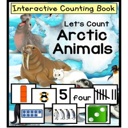 ARCTIC ANIMALS Interactive Counting Strategies To 10 for Autism and Special Ed