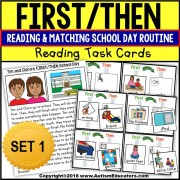 FIRST/THEN Board | TASK BOX FILLER ACTIVITIES for Autism