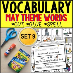 MAY Vocabulary and Fine Motor MONTHLY Worksheet Set