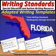 Special Education Adapted Writing Templates FLORIDA WRITING STANDARDS