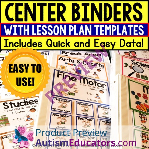 Data And Editable Lesson Plan Templates For DAILY CENTER