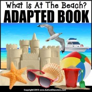 Adapted Book: WHAT IS AT THE BEACH – Special Education Resource for Reading
