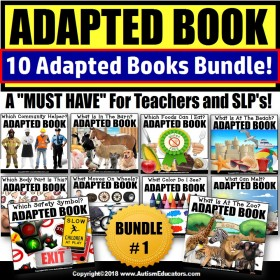 Adapted Books: Reading Resource for Special Education BUNDLE TWO (Variety)