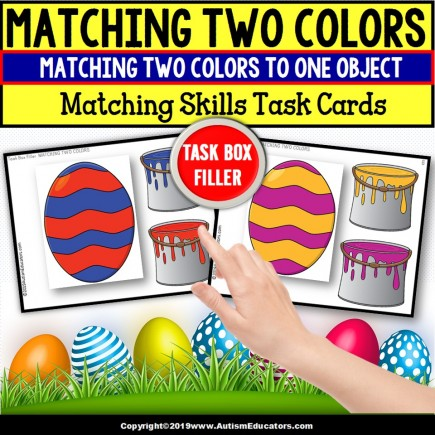 MATCHING COLORS Matching Skills Task Cards TASK BOX FILLER - Special Education