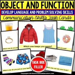 "OBJECT and FUNCTION (""Which one?"") Task Cards - TASK BOX FILLER Set#1"