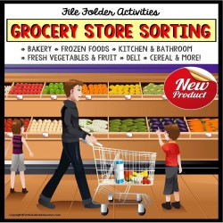 Life Skills GROCERY SHOPPING File Folder Activities SORTING BY CATEGORY