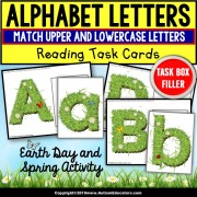 EARTH DAY Letter Match Task Cards - TASK BOX FILLER ACTIVITIES - Special Education Resource