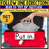 "Life Skills MATCHING Summer Vacation Items Task Cards ""Task Box Filler"""