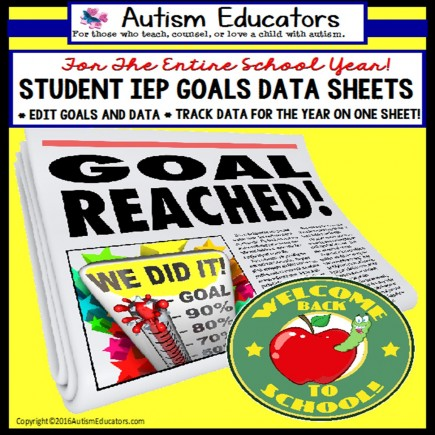 IEP Data Tracking Sheets and Cards