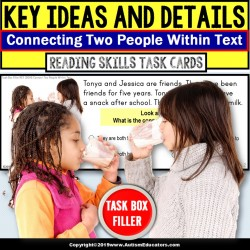 "KEY IDEAS in Text Reading Comprehension Task Cards ""Task Box Filler"" for Autism"